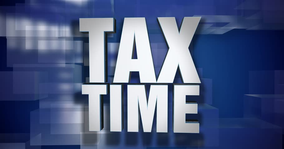 A blue dynamic 3D Tax Time transition element and title page animation. 5 and 2 second options included with optional luma matte for both.  | Shutterstock HD Video #25171178