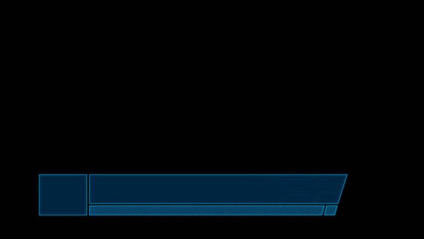 Tech lower third blue | Shutterstock HD Video #25178522
