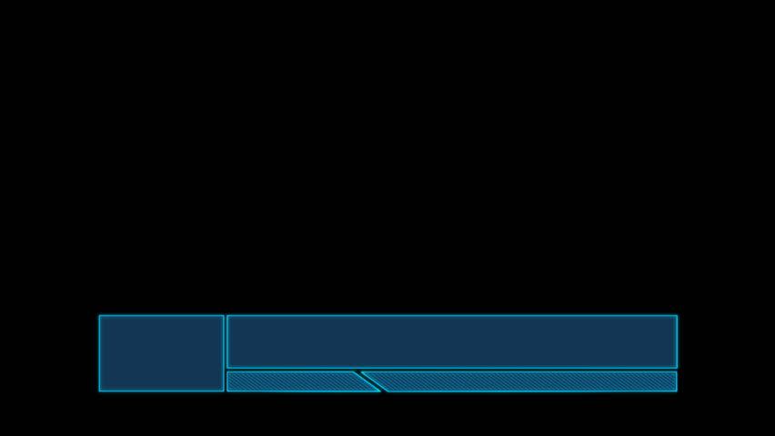 Tech lower third blue | Shutterstock HD Video #25178546
