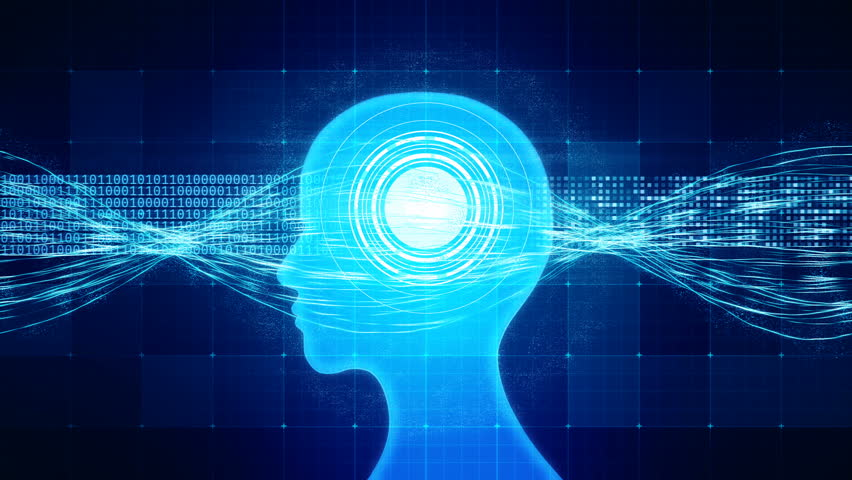 High-functioning brain processing information, memory boost, perfect human. Neuroscience, process of learning, human or AI brain memory  | Shutterstock HD Video #25192001