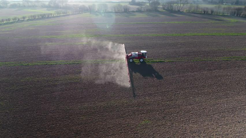 Fields on an Arable Farm Being Sprayed with Glyphosate | Shutterstock HD Video #25193003