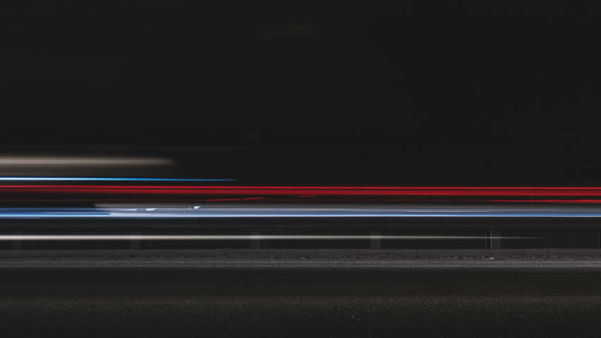 Super fast car lights in minimal style. Motion time lapse colorful urban background texture. Modern cityscape road traffic. Travel concept. Science hyperspeed  teleport movement. Time machine. | Shutterstock HD Video #25209215