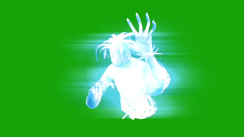 Terrifying Ghost Hangman Horror Close up Green Screen 3D Rendering