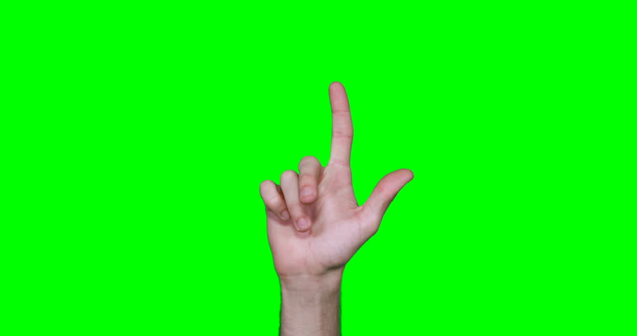 Hand making symbol against green screen | Shutterstock HD Video #25233152