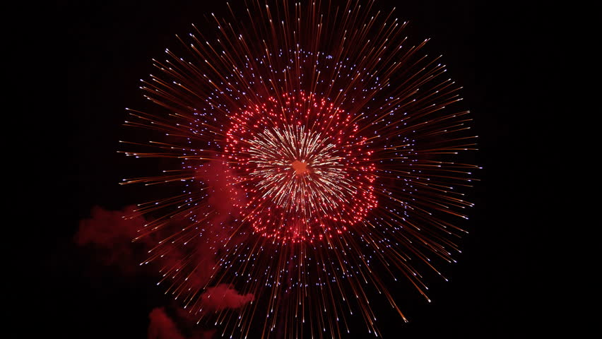 The fireworks in the night sky | Shutterstock HD Video #25239956