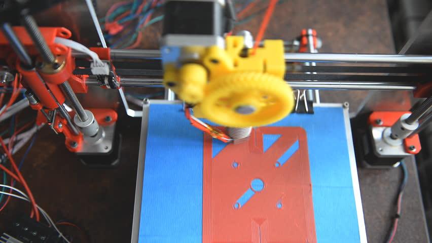 3d the printer prints the part | Shutterstock HD Video #25276970