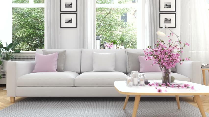 3d rendering. modern living room in townhouse. | Shutterstock HD Video #25280834