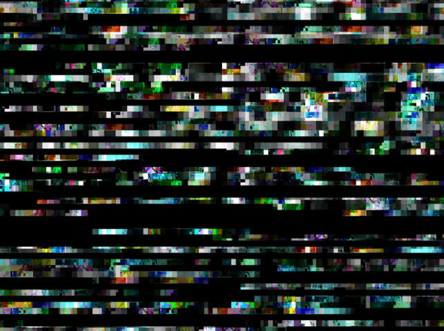 NTSC - Total Chaos 06 - Pulsing rows and data blocks of chaotic tv noise (Loop).  Formats available: HD-NTSC-PAL   Shutterstock HD Video #2528714