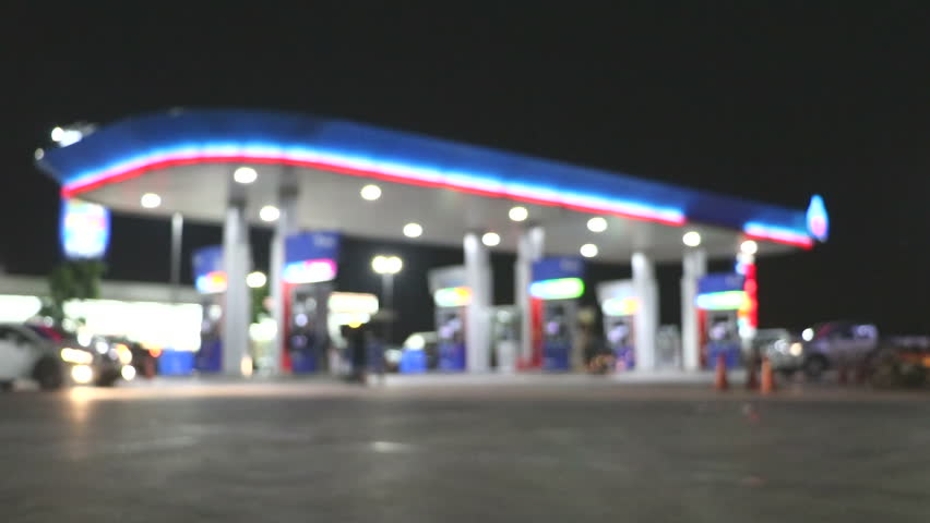 The Atmosphere Lighting Blurred in Gas station at night    Shutterstock HD Video #25311572