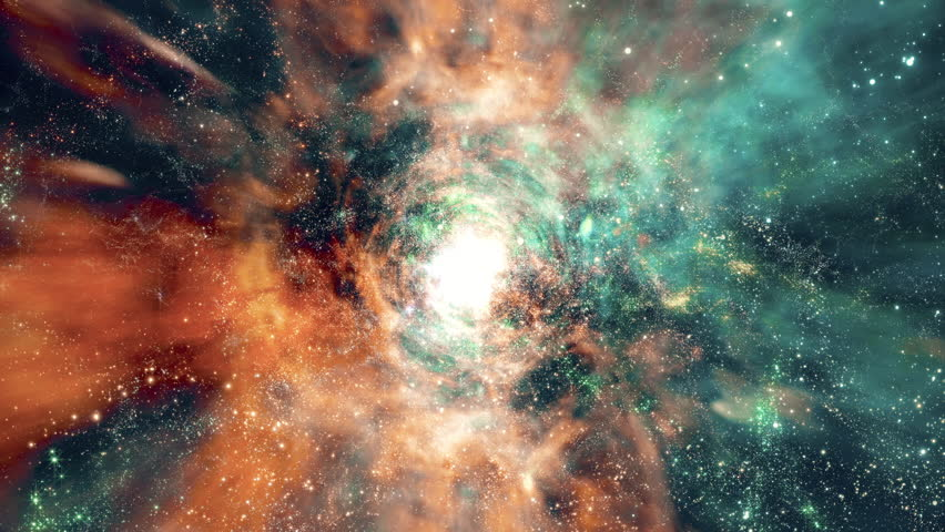 Space 2240: Flying through star fields and galaxies in deep space (Loop). #25363253