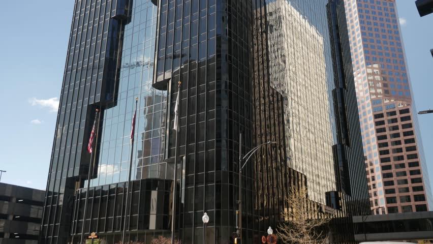 Huge Glass Skyscraper - Tilt Up and Down - Charlotte   Shutterstock HD Video #25367345