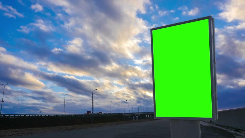 Billboard green screen about high-speed roads. timelapse | Shutterstock HD Video #25402484