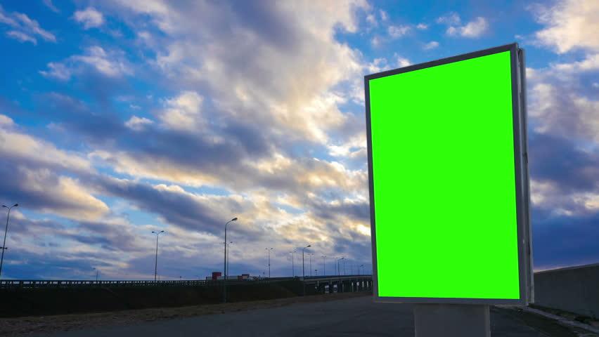 Billboard green screen about high-speed roads. timelapse | Shutterstock HD Video #25402493