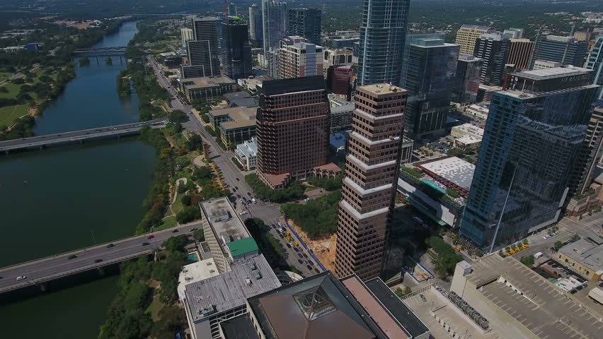 Aerial Texas Austin September 2016 4K