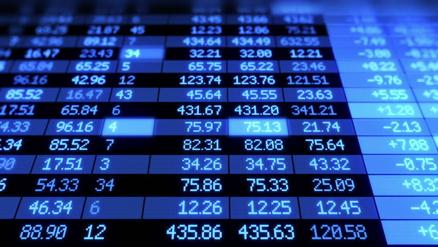 Stock Market board moving. Blue color. Looped animation. HD 1080. | Shutterstock HD Video #2540876