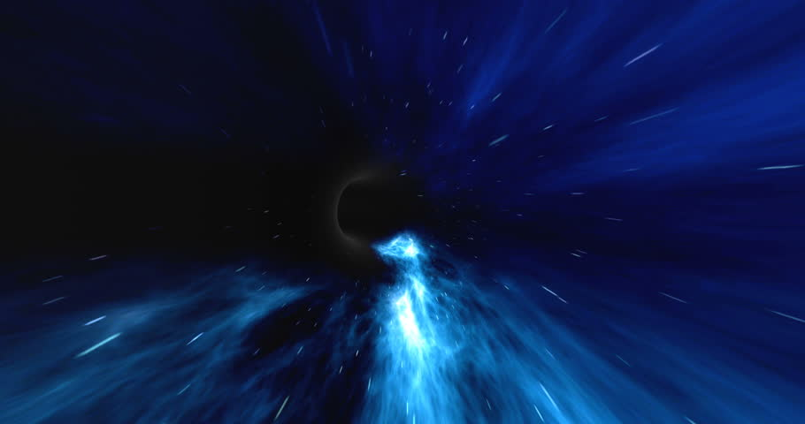 Wormhole straight through time and space, clouds, and millions of stars. Warp straight ahead through this science fiction wormhole. 4k animation | Shutterstock HD Video #25419356