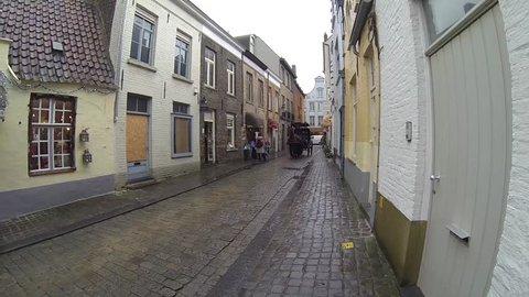 horse carriage in Bruges, Belgium