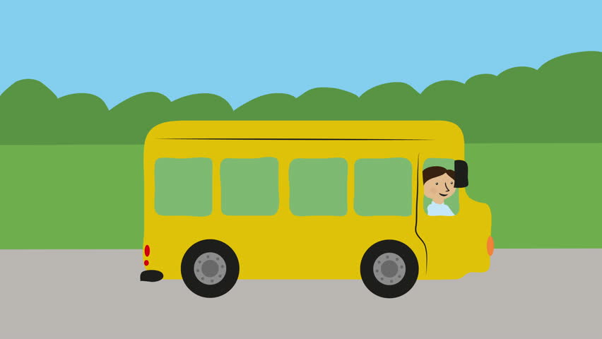 Yellow School Bus With Children Stock Footage Video 100 Royalty Free 25448741 Shutterstock
