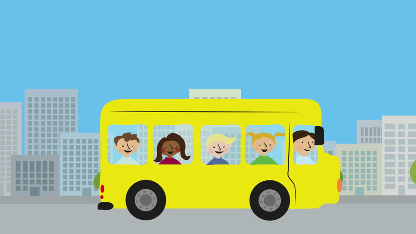 Yellow School Bus With Children Stock Footage Video 100 Royalty Free 25448759 Shutterstock