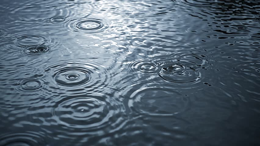 Rippled rain drops in super slow motion  #25458998