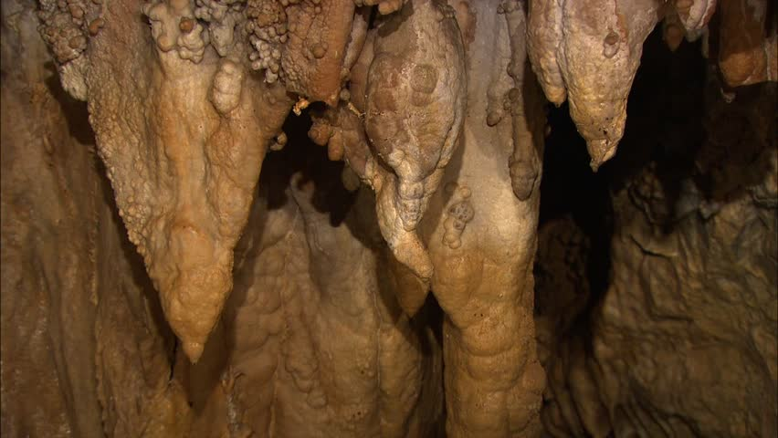 Stalactites with interesting texture in cave