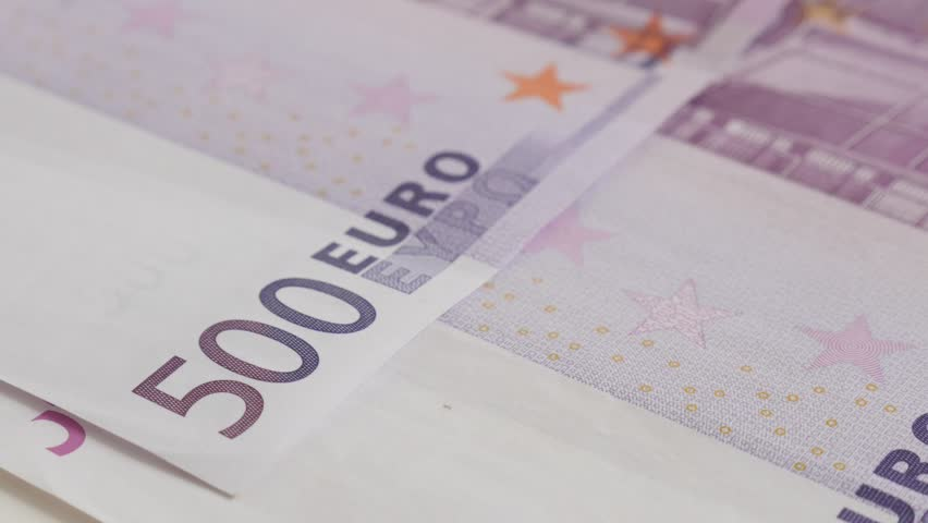 Money and business background with 500 euro banknotes 4K 2160p 30fps UltraHD tilting    footage - Five hundred EU paper denominations 3840X2160 UHD video | Shutterstock HD Video #25518560