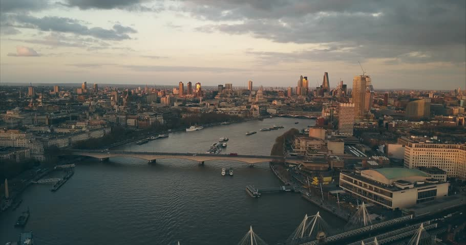 City Sunset Skyline Views - LONDON