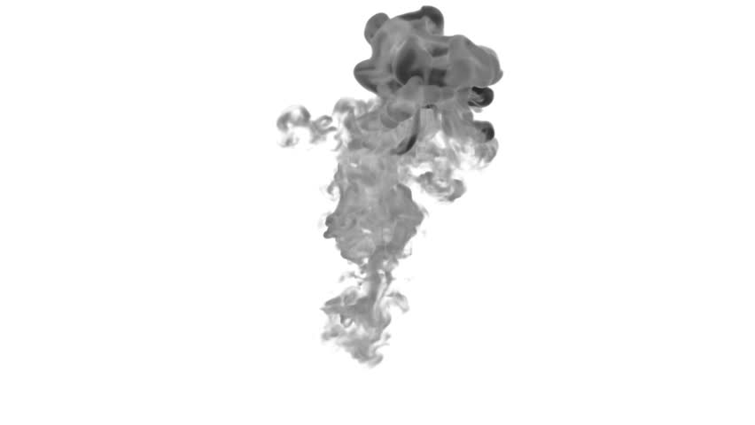Black Ink on white backgound in water move in slow motion with alpha mask. VFX Flow of Ink or smoke for transitions, background, overlay and effects. Ver 7 | Shutterstock HD Video #25538888