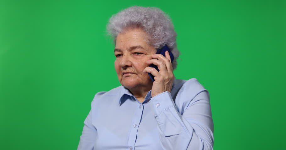 Retiree Lady Receive Bad News Talk Son on Mobile Phone Old Woman Chat Discussion   Shutterstock HD Video #25541582