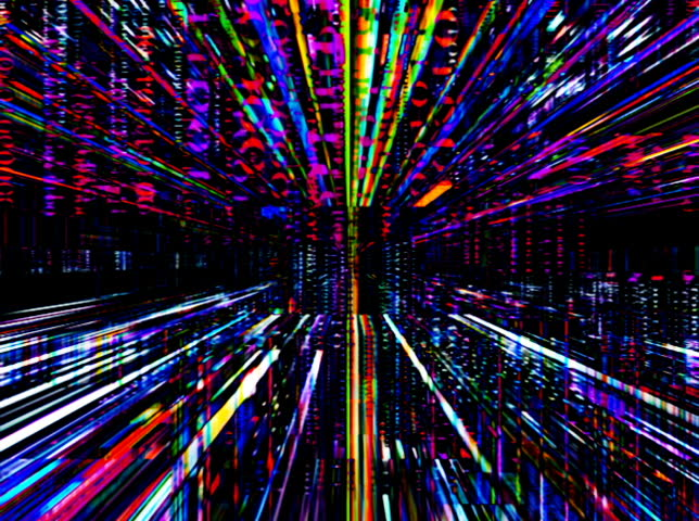 NTSC - Travelling through a maze of digital data (Loop).  Formats available: HD-NTSC-PAL | Shutterstock HD Video #2554415