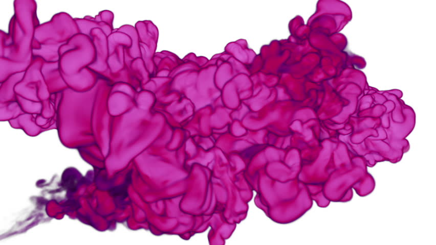 rosy Ink with alpha mask in water move in slow motion. VFX Cloud of Ink or smoke for transitions, background, overlay and effects. For alpha channel use alpha matte. 3d Ink background Ver 10 #25571042