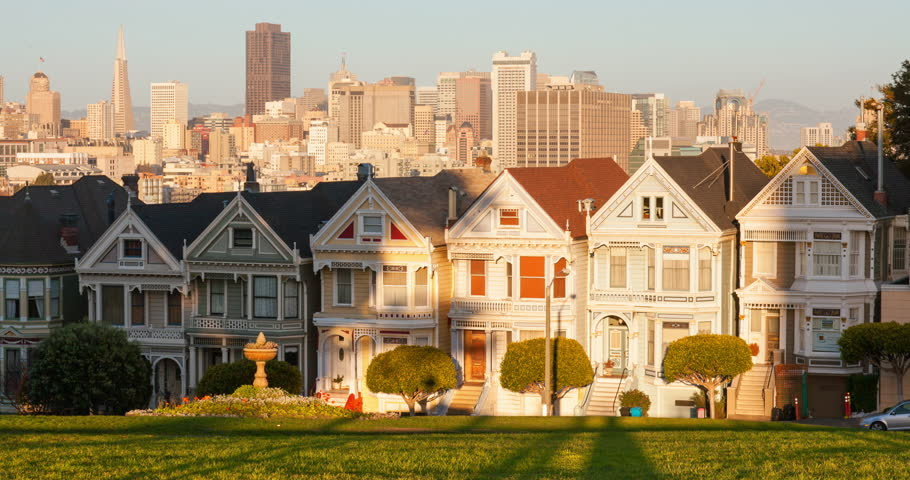 Painted Ladies timelapse day to night san francisco