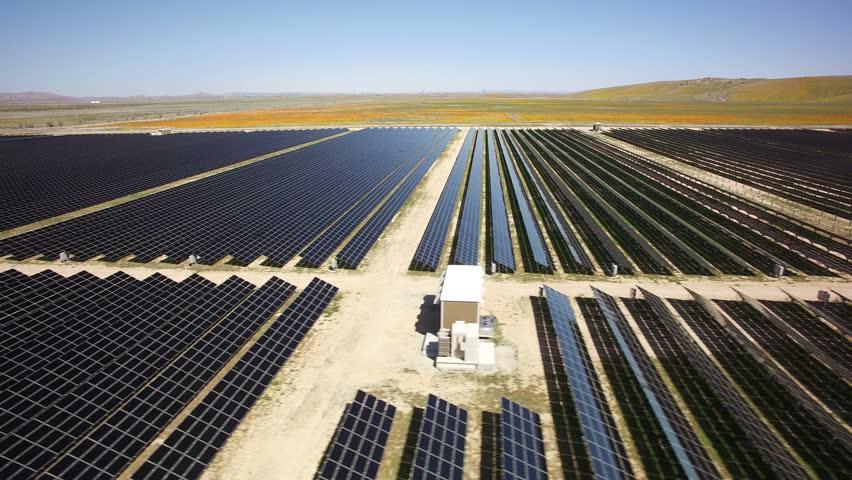 Solar Power Plant Aerial 06 Mojave Desert California | Shutterstock HD Video #25596587