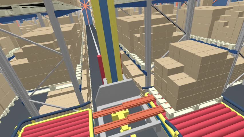 Automated warehouse transportation of boxes