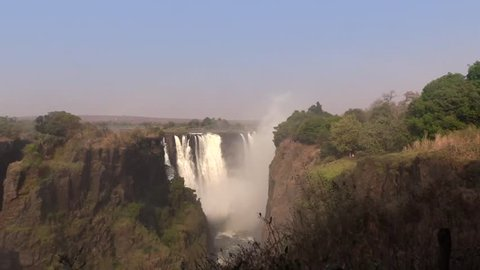 Main fall side view from Livingstone Monument - Victoria Falls HD1080.