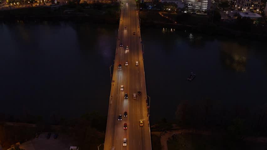 Austin Texas Capitol Aerial Congress Street Downtown