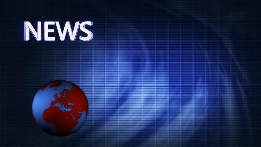 World News blue background FullHD looping