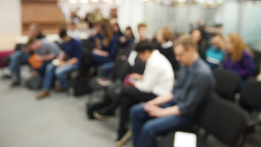Blurred background - business meeting - a lot of people sitting at a seminar or lectures - time-lapse | Shutterstock HD Video #25641869