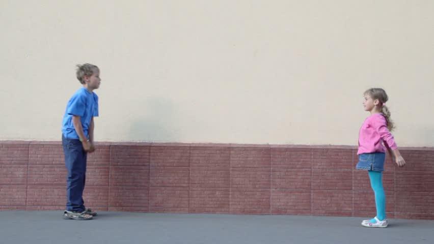 Two Kids Boy and Little: Video de stock (totalmente libre de regalías) 2567408 | Shutterstock