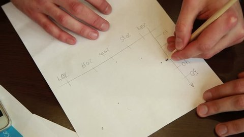 Businessman working with business graph or analysis chart. Close up business team analysis and strategy concept
