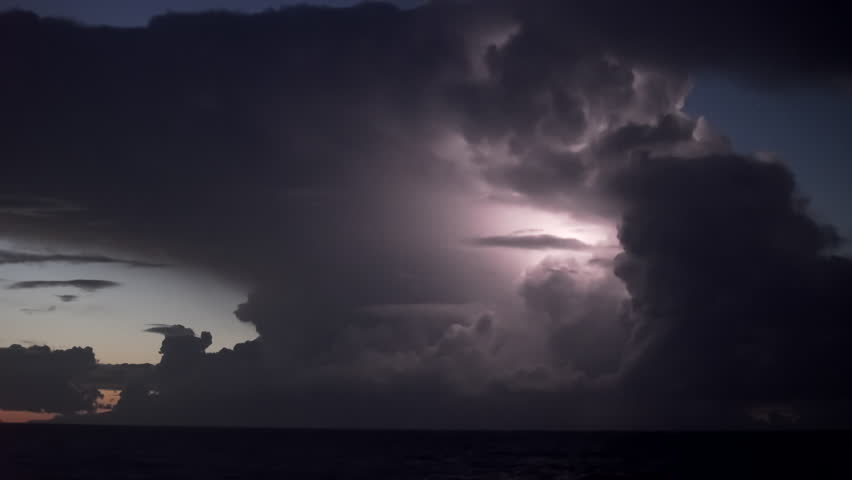 Real time Thunderstorm lightning flashes