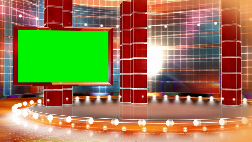 Virtual animated backdrop for television programs