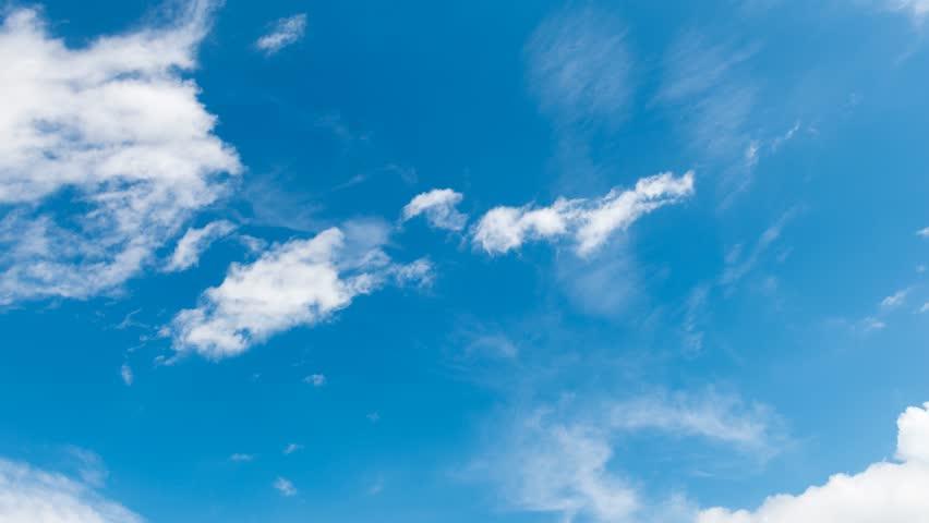 4K. Timelapse rolling clouds  - ULTRA HD, 4096x2304. #25719815
