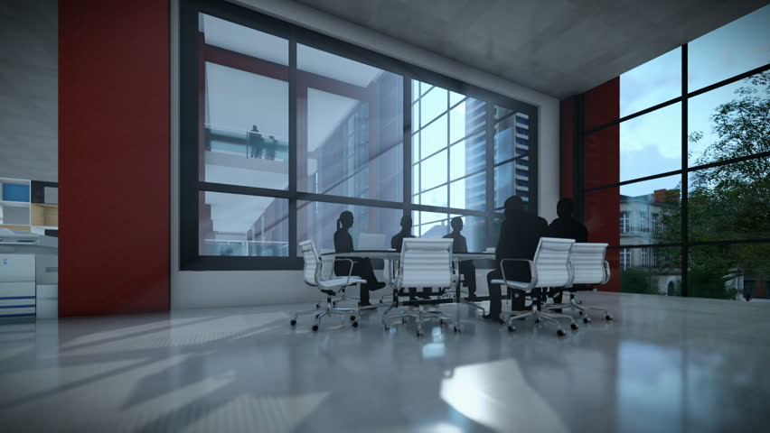 Business team silhouettes meeting, office building, timelapse sunset | Shutterstock HD Video #25723163