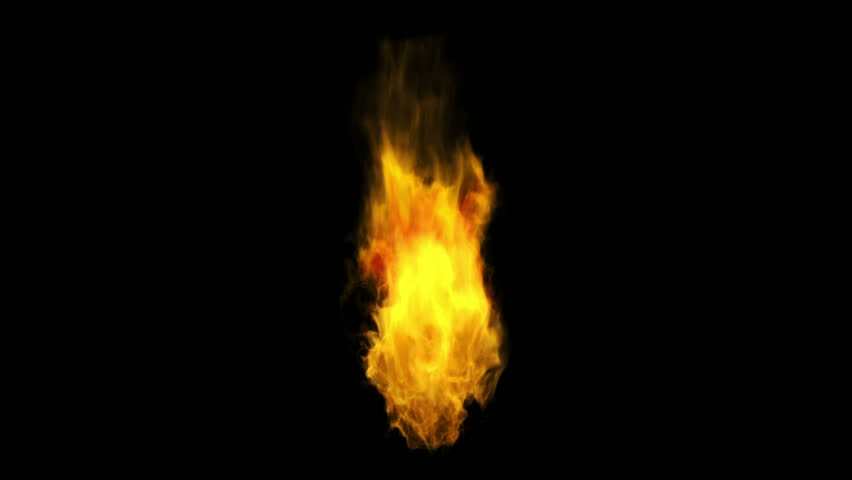 Perfectly looped fire with Alpha channel  matte.   Shutterstock HD Video #2574740