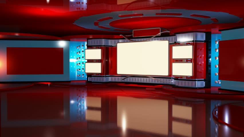 Virtual TV studio red