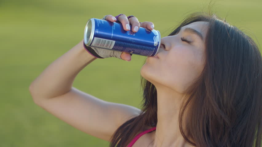 Asian Woman Drinking Soda. Sport Stock Footage Video (100% Royalty-free)  25768241 | Shutterstock
