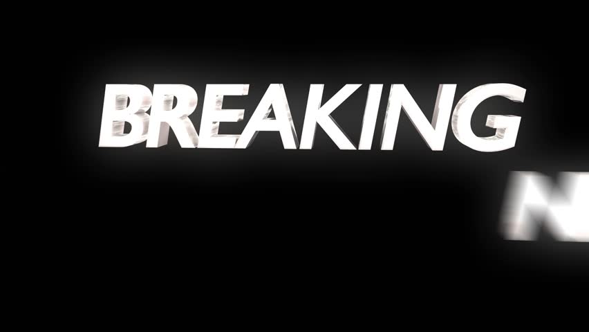 Breaking news overlay dynamic text lens flare chyron sting transition loop 4k | Shutterstock HD Video #25772198