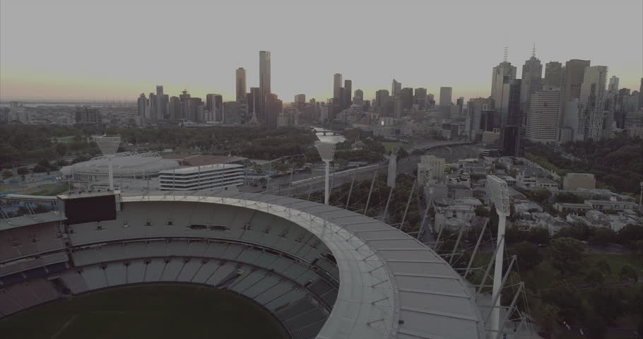 Melbourne Australia. March 23rd 2017: Aerial view over the Melbourne Cricket Ground.The Melbourne Cricket Ground, also known as
