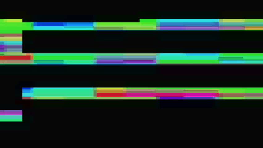 Colorful Bunch of collapsing data. Signal error. Luma matte channel included.